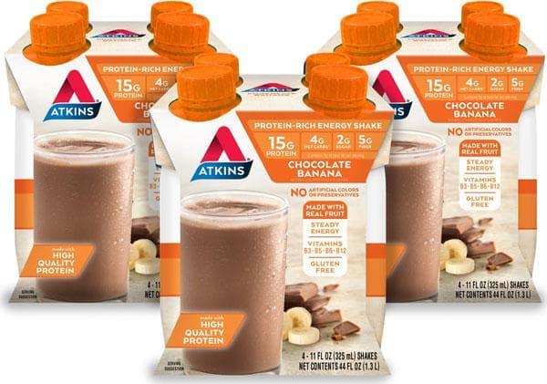 Batido energético Atkins Chocolate Banana