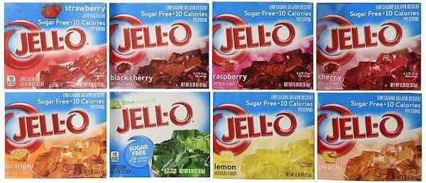 Gelatina de gelatina sin azúcar