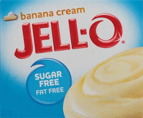 Crema de plátano con pudín instantáneo sin azúcar Jello-O