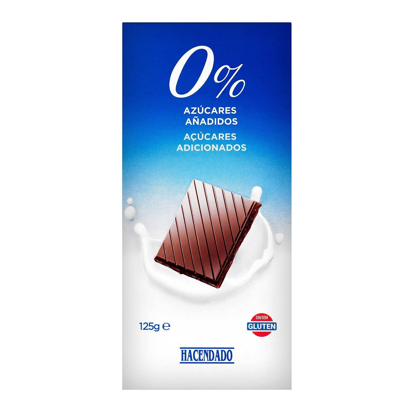 chocolate extrafino 0% con leche y edulcorante Mercadona