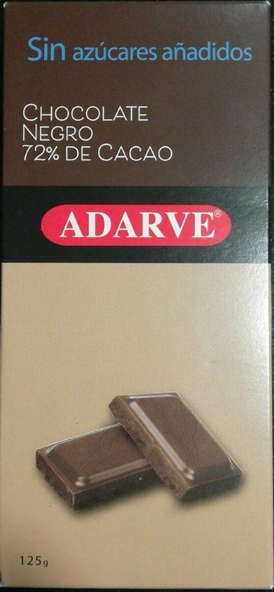 chocolate negro 72% de cacao de Adarve