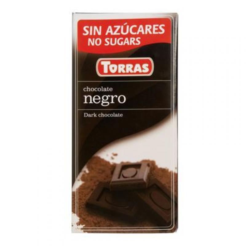 chocolate negro edulcorado 52% cacao Torras