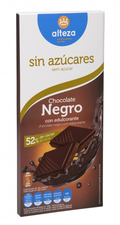 Chocolate negro sin azúcares Alteza