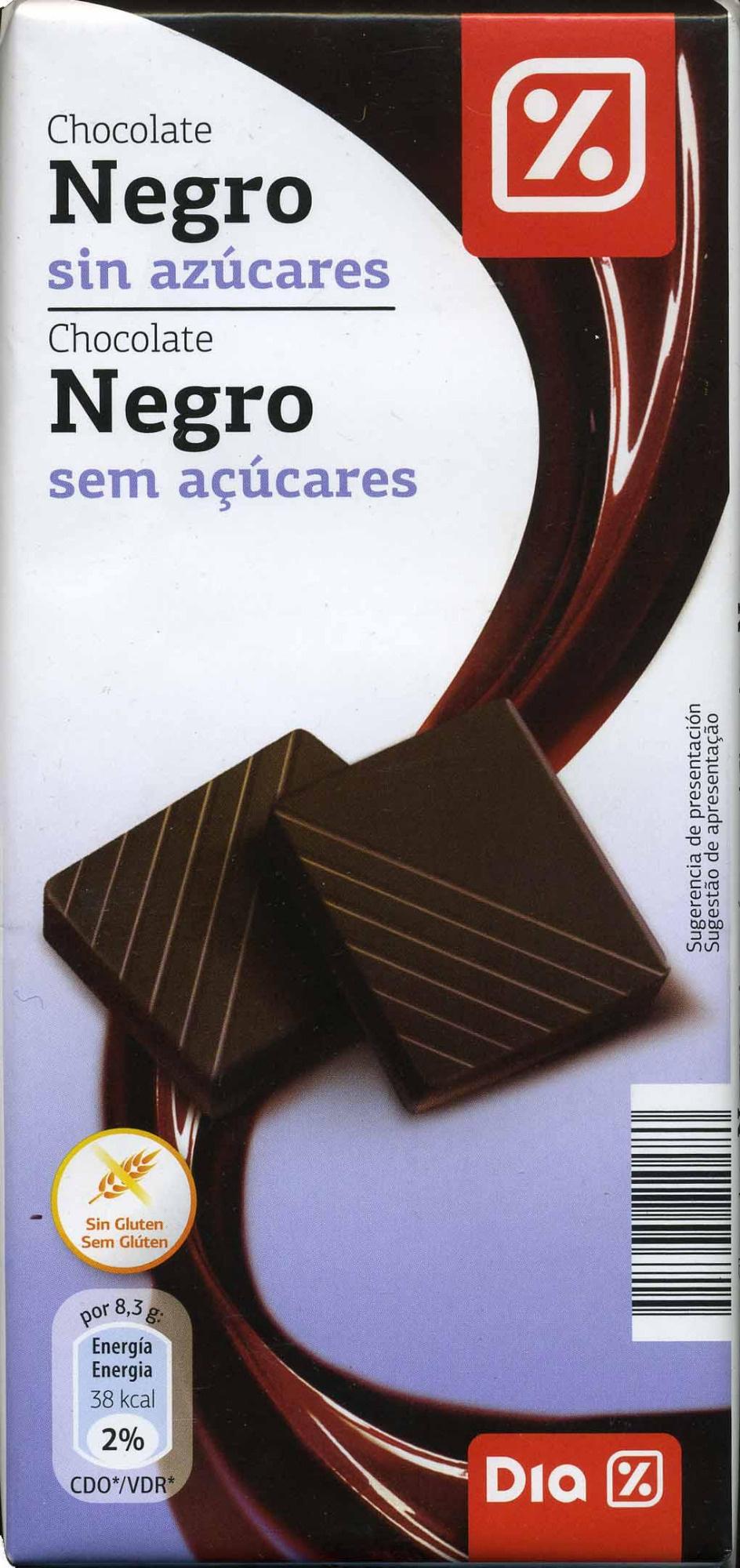 chocolate negro sin azúcares Dia