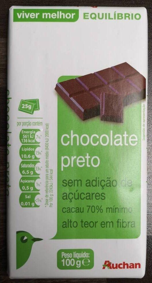 chocolate-70-sin-azucar-anadido-auchan