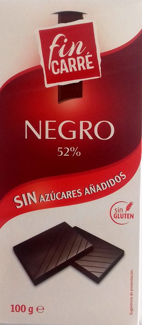 chocolate negro 52% Fin Carré