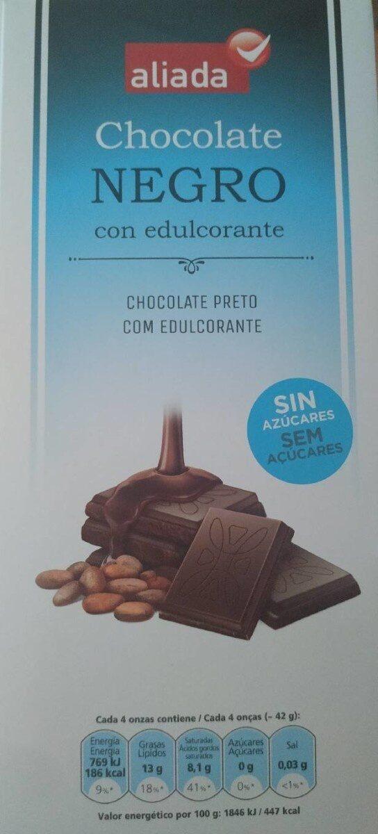 chocolate negro con edulcorante sin azúcares Aliada