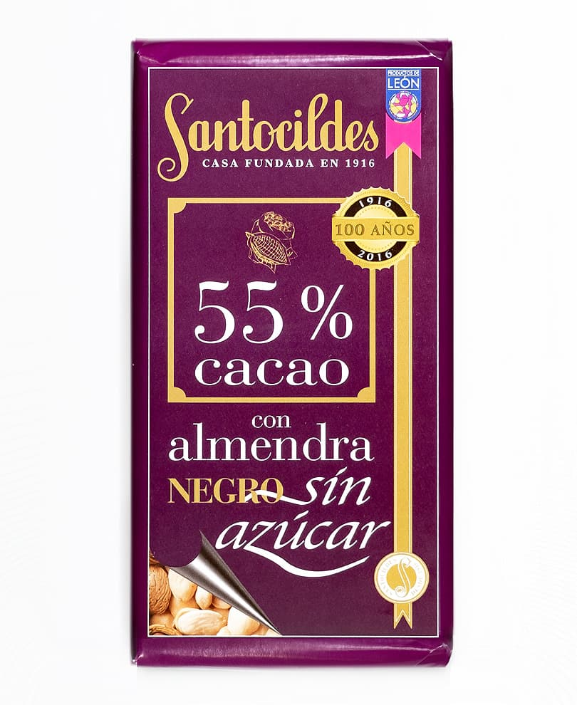 chocolate-negro-sin-azucar-santocildes-con-almendras-55-cacao-200g-la-leonesa-foto-paquete