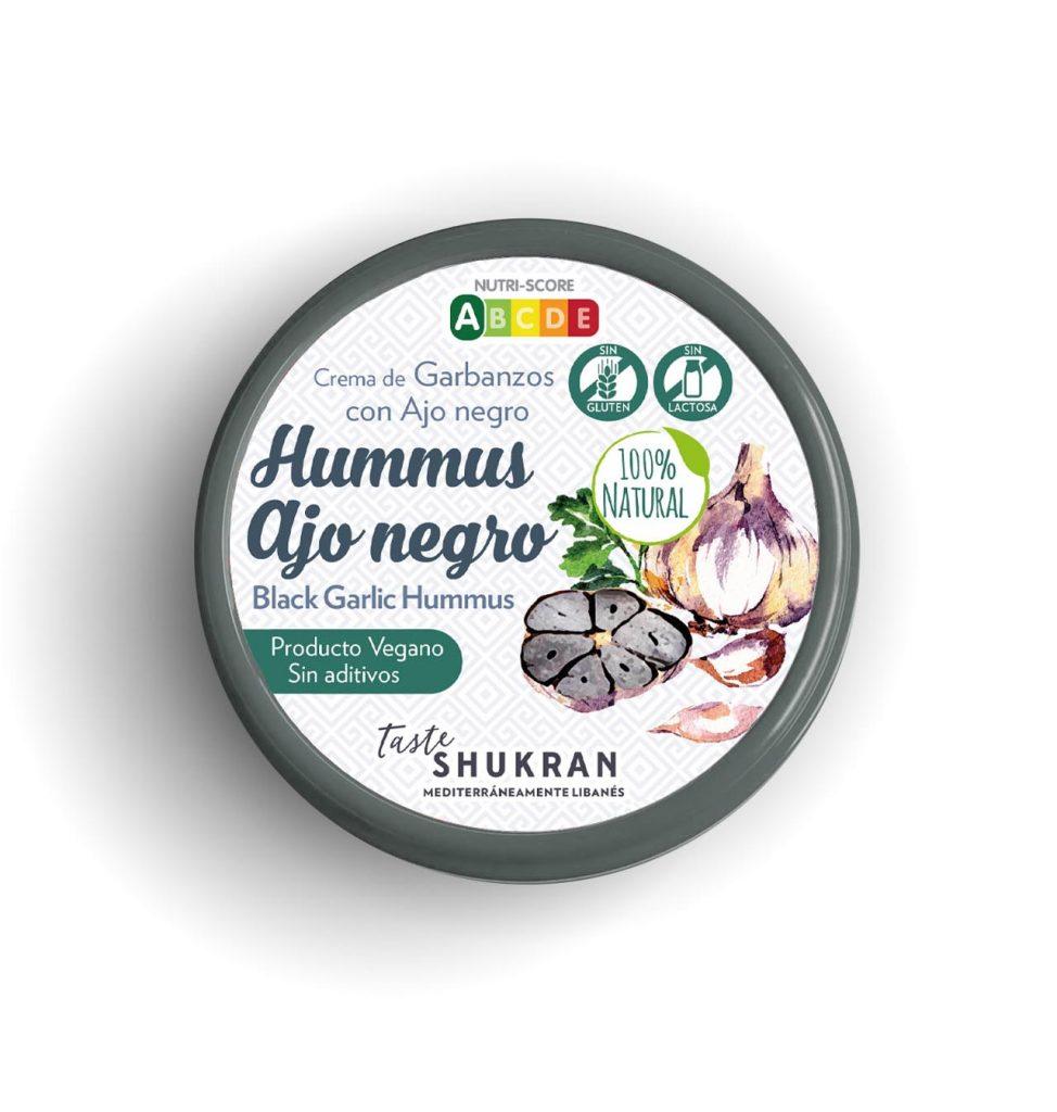 hummus ajo negro Taste Shukran