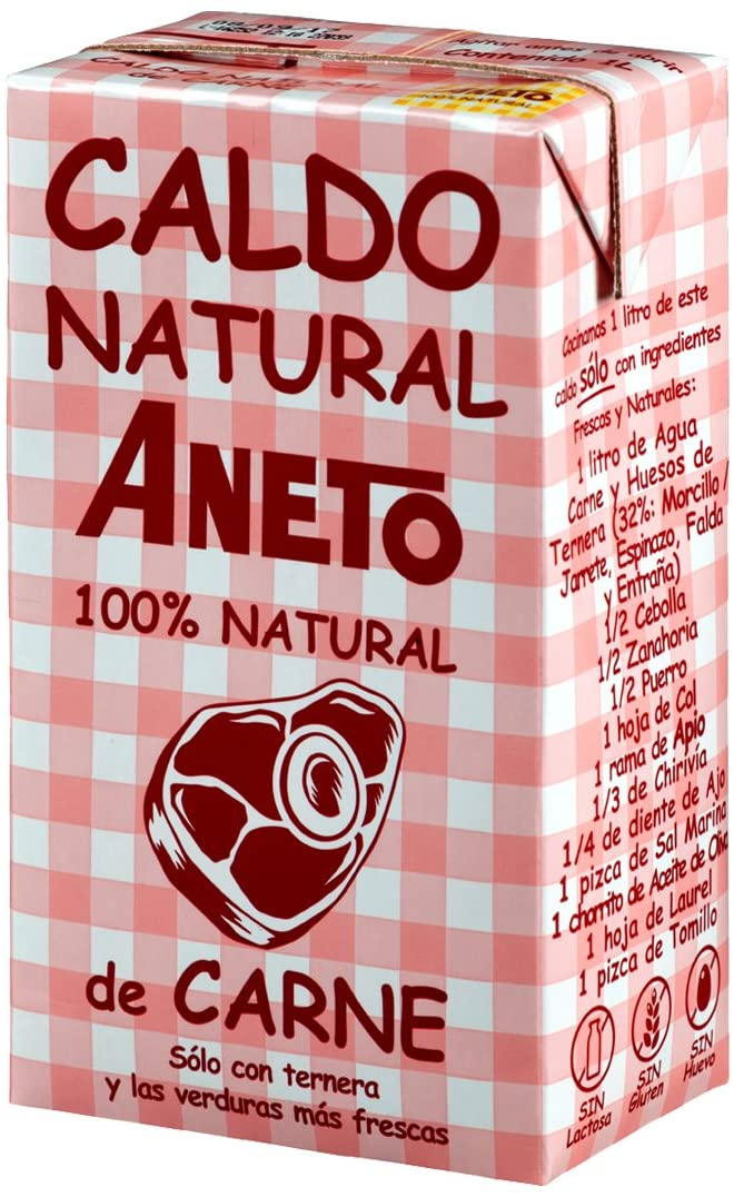 caldo de carne 100% natural Aneto