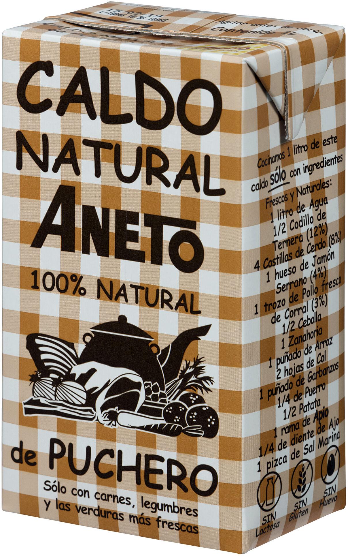 caldo de puchero 100% natural Aneto
