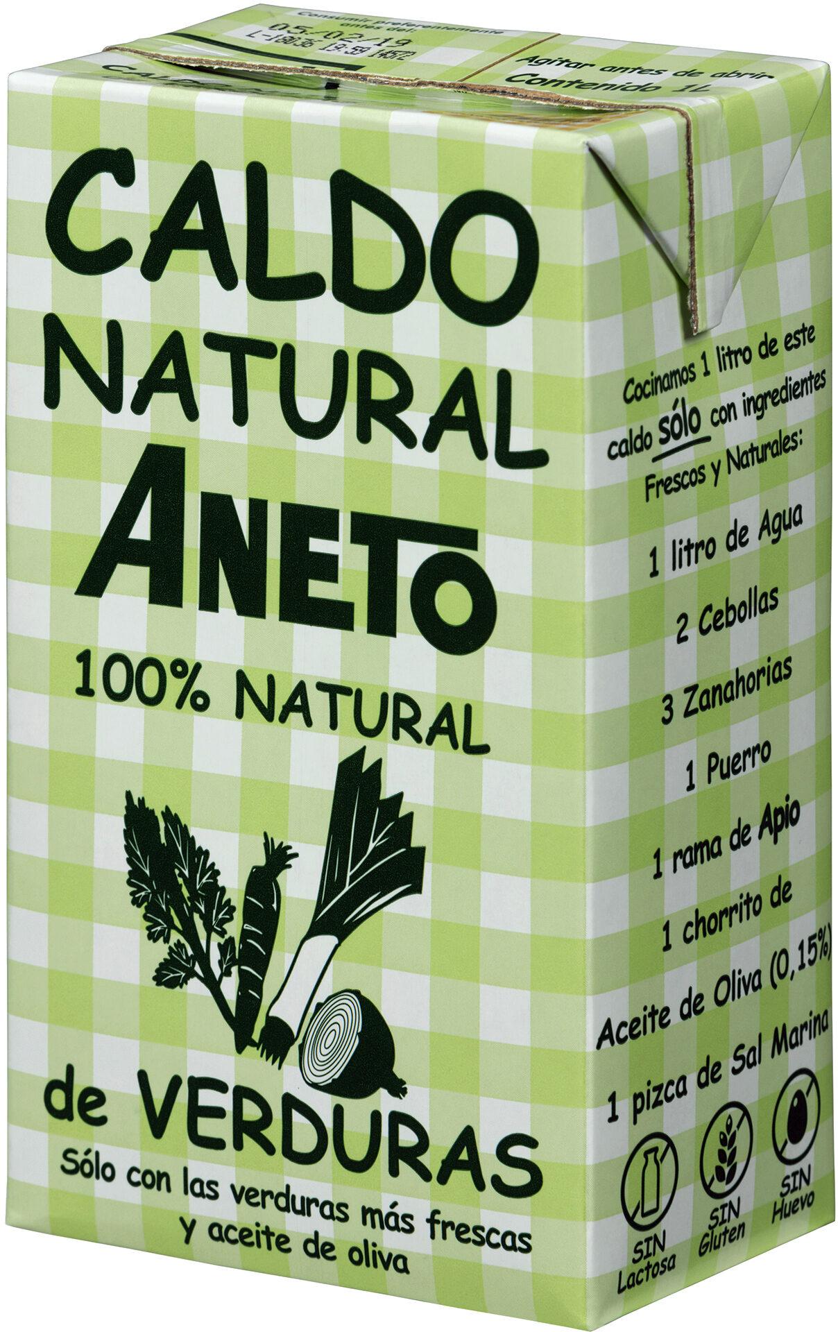 caldo de verduras 100% natural Aneto