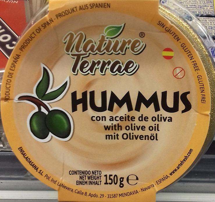 hummus con aceite de oliva Nature Terrae