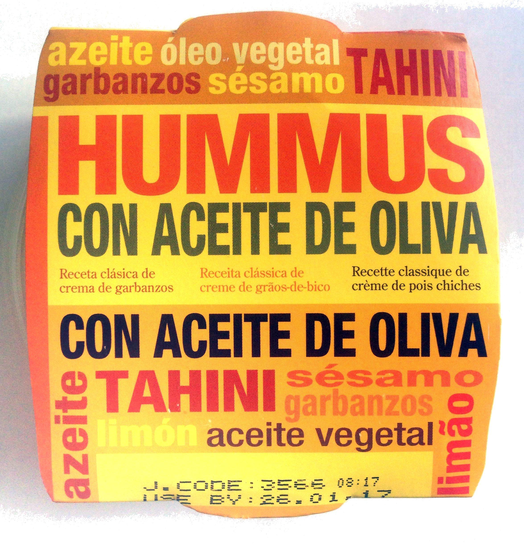hummus con aceite de oliva Orexis