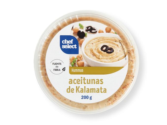 hummus con aceitunas de kalamata Chef Select