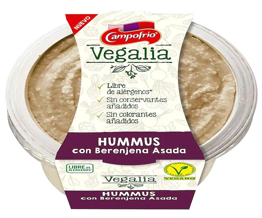 hummus con berenjena asada Campofrío