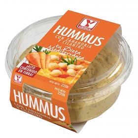 hummus con zanahoria y cilantro YGriega