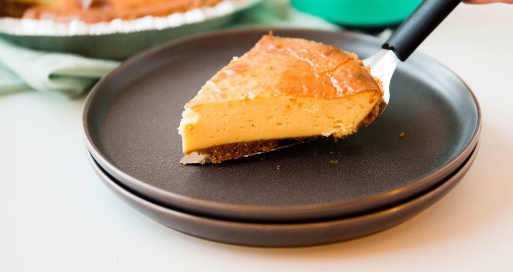 tarta de queso keto ligera