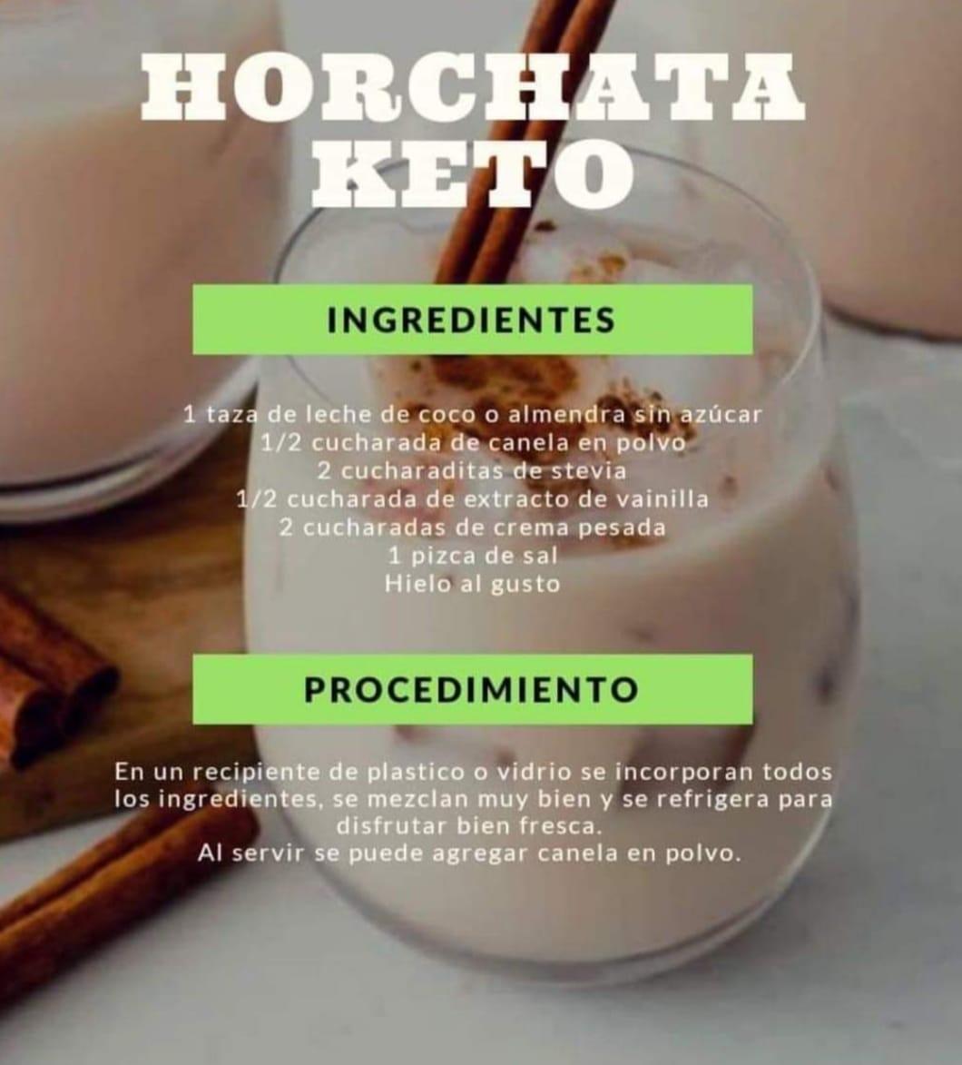 receta de horchata keto